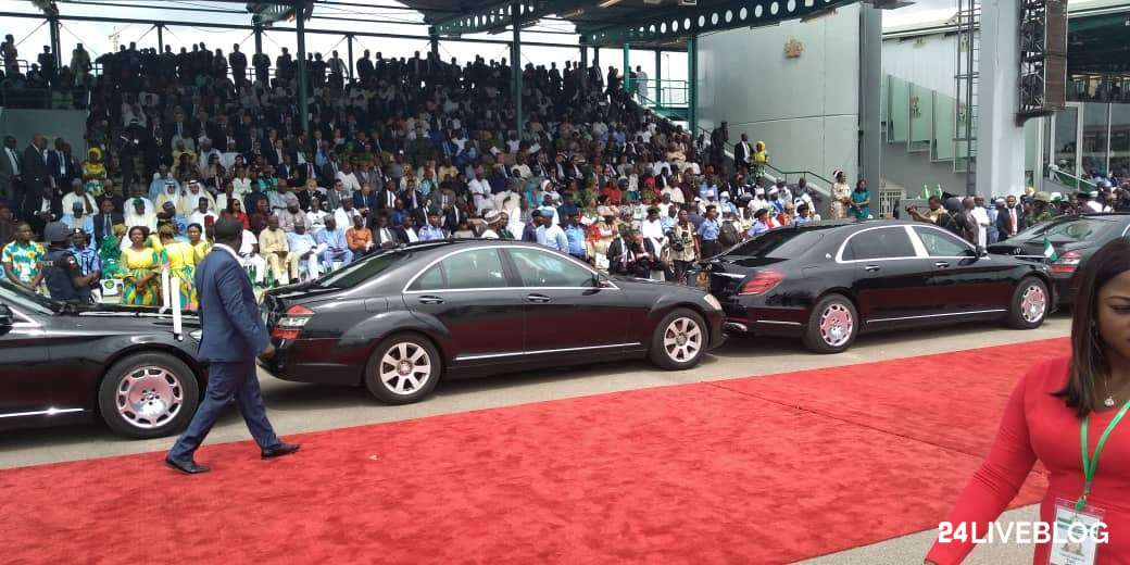 Buhari, Osinbajo, Other Dignitaries Arrive Eagle Square For Democracy Day Celebration
