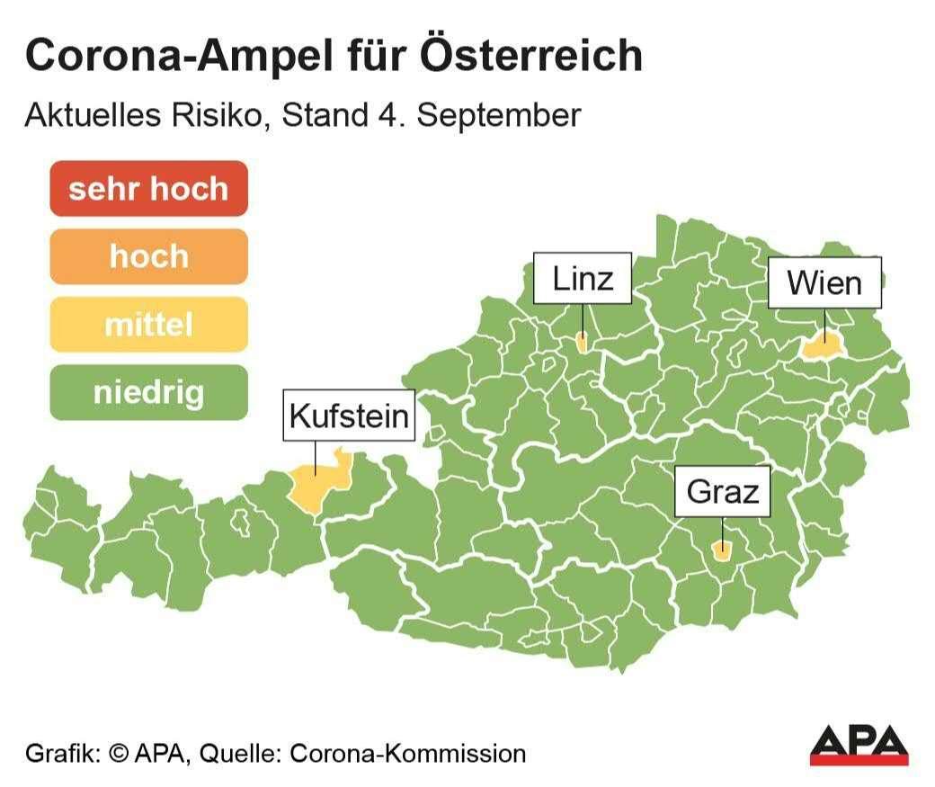 Corona-Ampel startet heute in Österreich - SALZBURG24